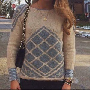 J. Crew Handknit Tile Cashmere Sweater Sz XXS